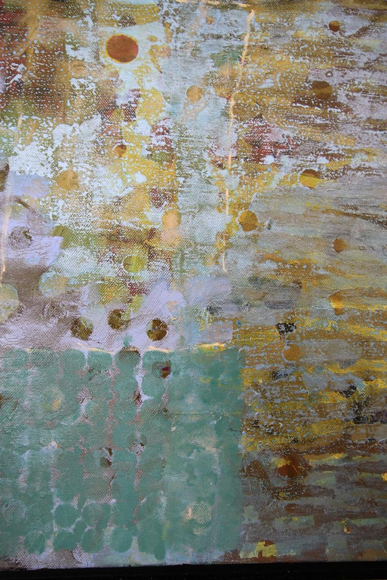 'Head Above Water', Contemporary Geometric Abstract Mixed Media Oil Painting For Sale 1