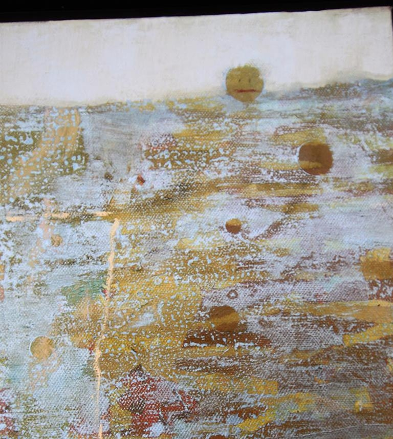 'Head Above Water', Contemporary Geometric Abstract Mixed Media Oil Painting For Sale 2