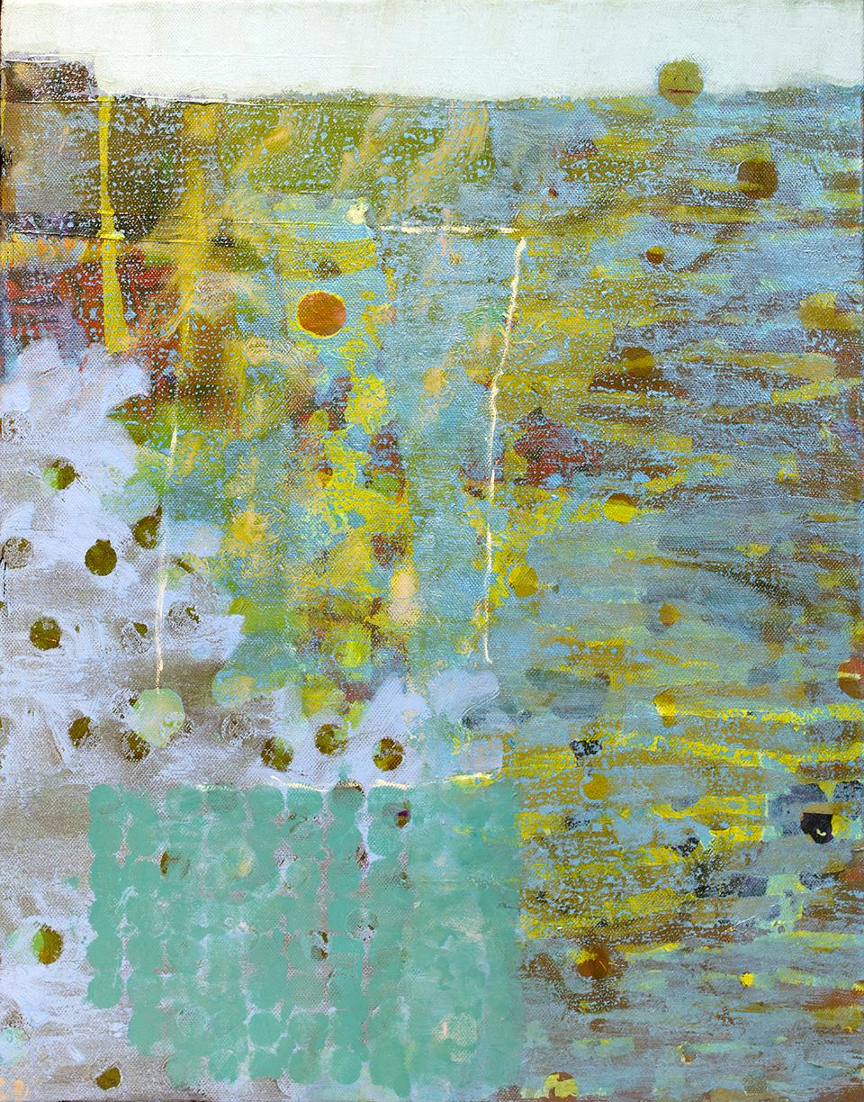 """""""Head Above Water,"""" Abstract Painting"""