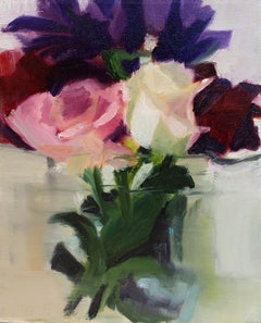 'Spring Bouquet', Contemporary Still-Life Floral Oil Painting