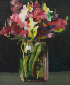 """Summer Bouquet 2"", Contemporary Floral Still-life Oil Painting"