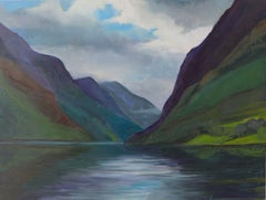 Norway #3, Painting, Oil on Wood Panel