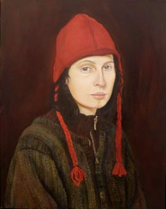 Woman in a Red Hat, Painting, Oil on Canvas