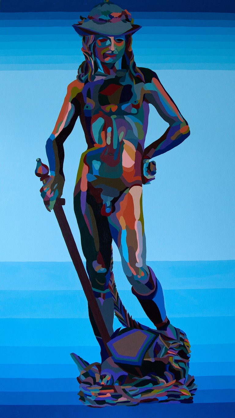 Gemini, David Air Gateway 2 (Twin Bed) - Painting by Christine Finley