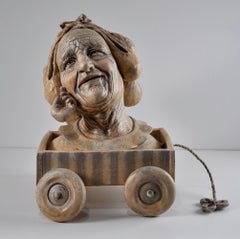 IN MEMORY OF TENDER CARESS- ceramic figurative sculpture