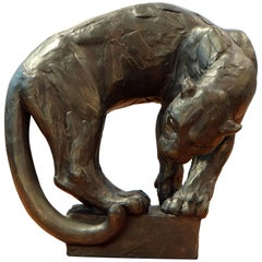 Christine Onillon, Perched Panther Sculpture, 2018