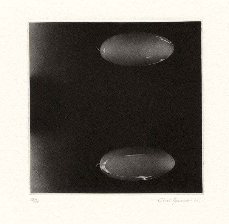 Deux Fois Rien (double or nothing) - Black Abstract Print by Christine Ravaux