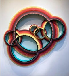 Wide Ring Intersection, Wood Wall Sculpture by Christine Romanell