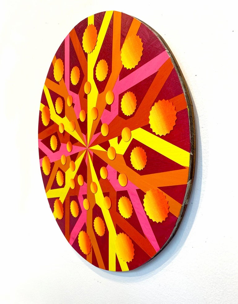 Quaternions, Acrylic on Wood, Wall sculpture by Christine Romanell For Sale 1