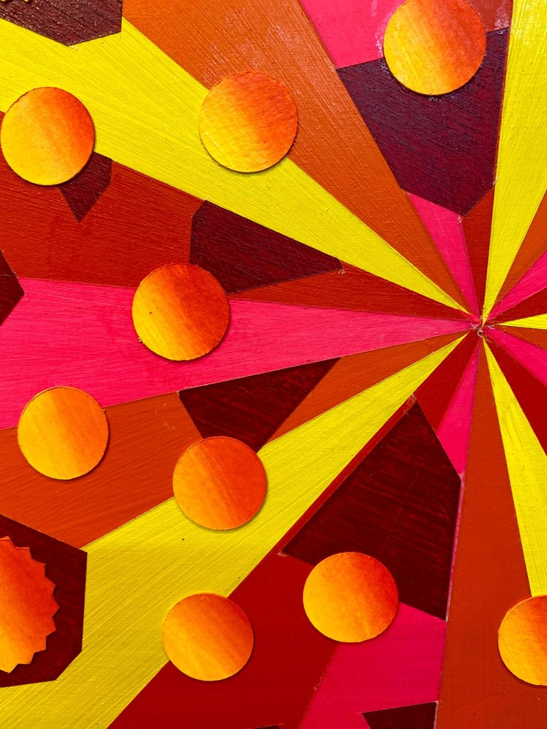 Quaternions, Acrylic on Wood, Wall sculpture by Christine Romanell For Sale 2
