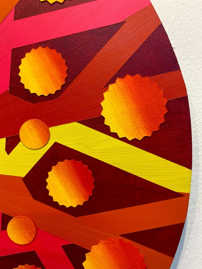 Quaternions, Acrylic on Wood, Wall sculpture by Christine Romanell For Sale 3