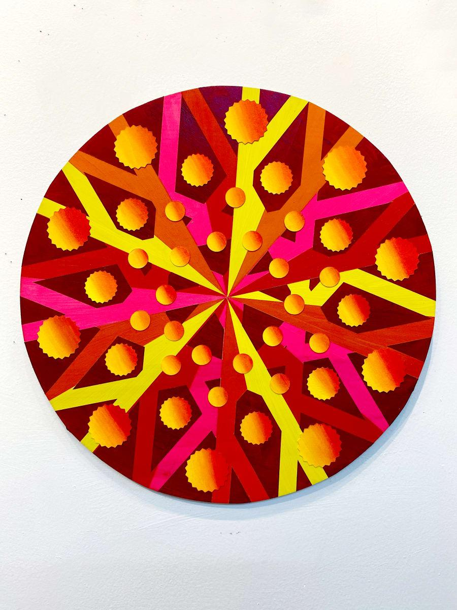 Quaternions, Acrylic on Wood, Wall sculpture by Christine Romanell
