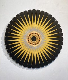 Starburst 1, Acrylic on Wood, Wall sculpture  by Christine Romanell