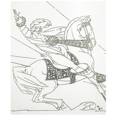 """""""Christmas Cavalier,"""" 1925 Drawing by Walter Dorwin Teague"""