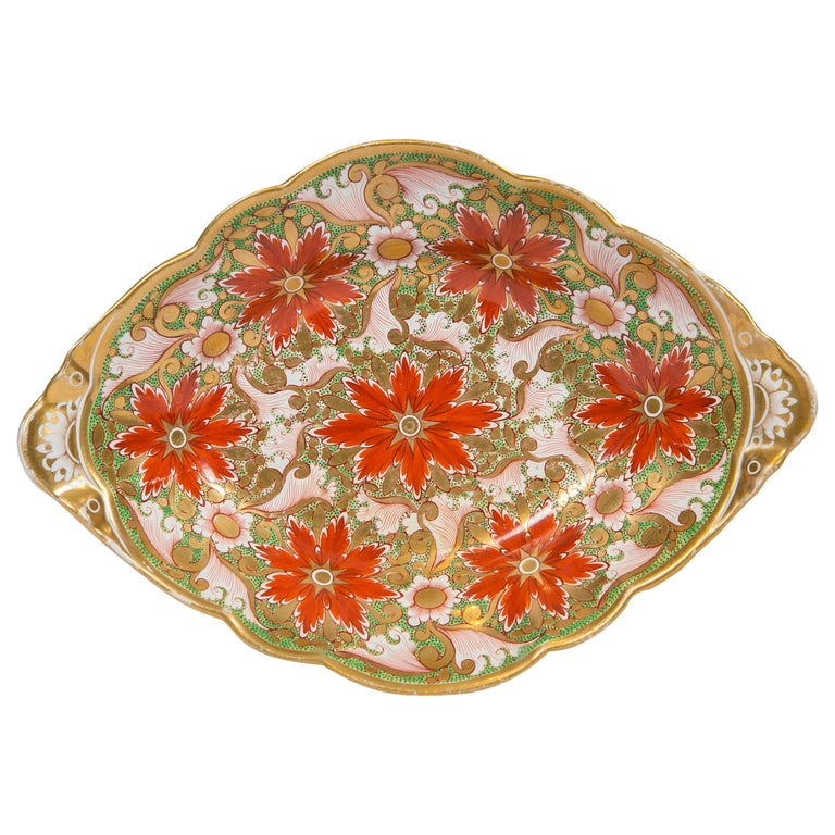 Christmas Dish Made by Minton in England circa 1805 For Sale