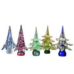Christmas Tree Made in Artistic Blow Murano Glass