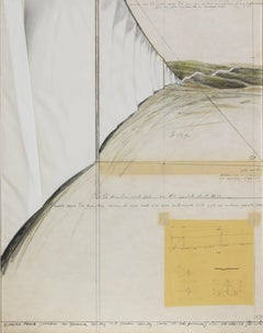 Collage by Christo, Running Fence (Project for Sonoma County and Marin County)