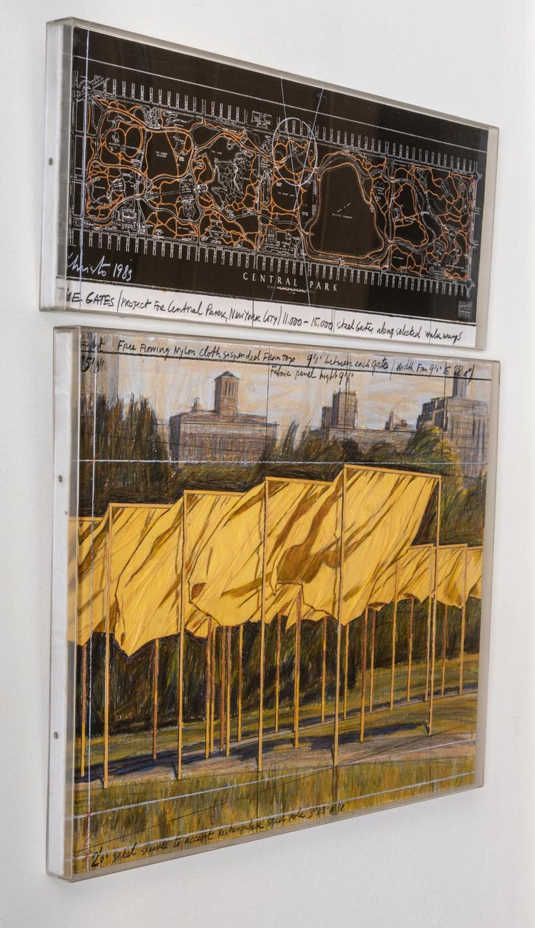 The Gates (Project for Central Park, New York City) - Contemporary Mixed Media Art by Christo and Jeanne-Claude