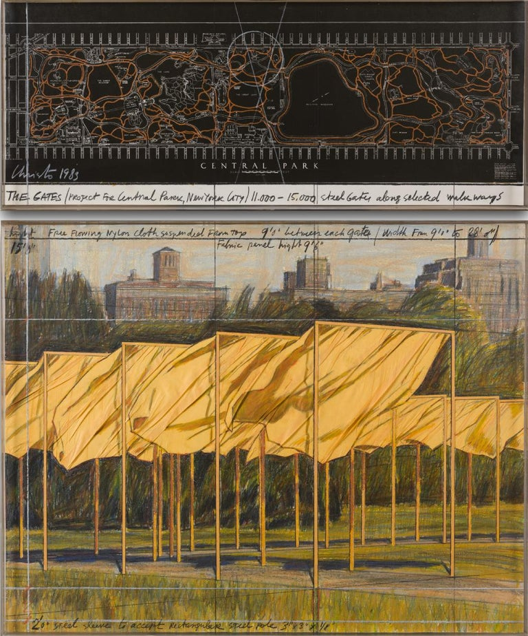 The Gates (Project for Central Park, New York City) - Mixed Media Art by Christo and Jeanne-Claude