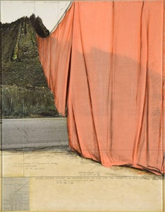 Valley Curtain (Project for Colorado) by CHRISTO - Contemporary Art, Mixed Media