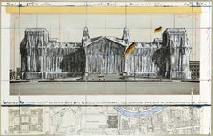 Wrapped Reichstag (Project for Berlin) by CHRISTO - Contemporary Art