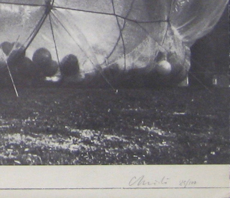Cubic Feet Empaquetages - Original Photolithograph by Christo - 1971 ca. - Photograph by Christo and Jeanne-Claude