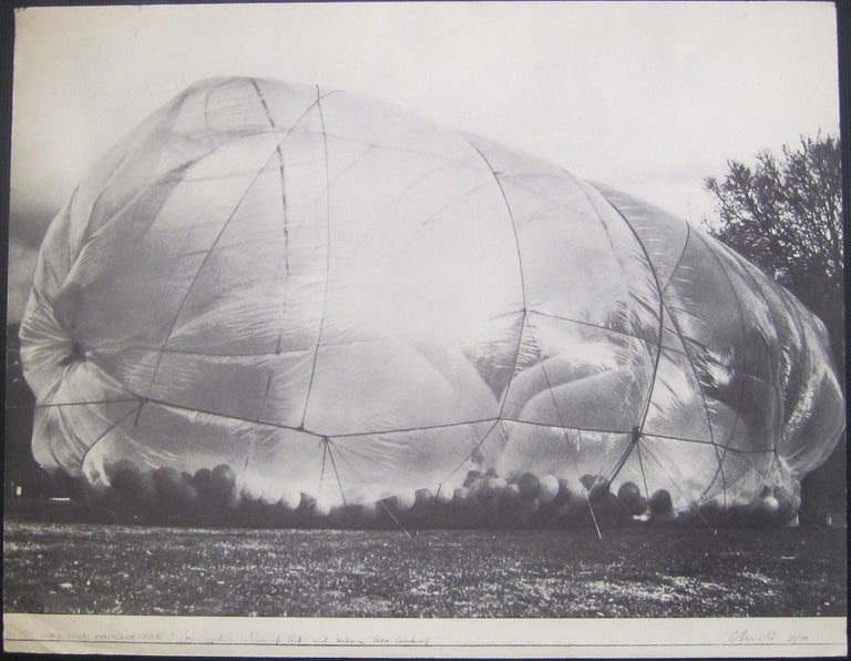 Christo and Jeanne-Claude Landscape Photograph - Cubic Feet Empaquetages - Original Photolithograph by Christo - 1971 ca.