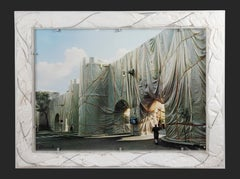 The Wall - Wrapped Roman Wall by Christo - 1974