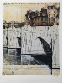 Le Pont Neuf 1985 -- Print, Lithograph by Christo and Jeanne-Claude