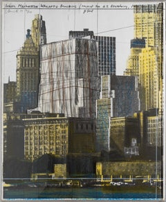 Lower Manhattan wrapped building, project for 2 Broadway, N. Y