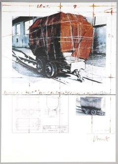 Package on a Hunt - Original Offset Print by Christo - 1988