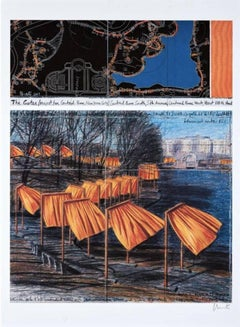 The Gates (m), from the Project for Central Park, Christo and Jeanne-Claude
