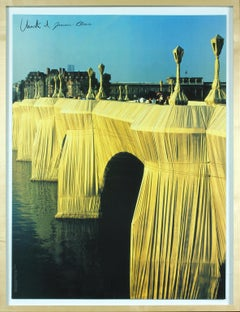 The Pont Neuf Wrapped, Paris, 1975–85 poster signed by Christo and Jeanne-Claude