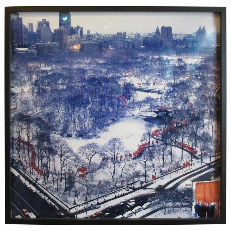 """Christo / Jeanne-Claude Photo of """"The Gates"""" by Wolfgang Volz NYC For Sale"""