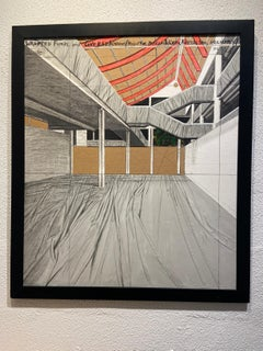 Lithograph  - Project for Museum Würth - Christo