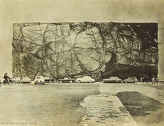 Public Building Wrapped - Original Photo-Offset by Christo - 1974