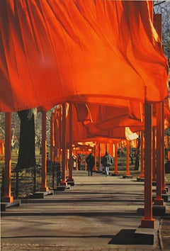 """Christo - """"The Gates New York Central Park"""" - color offset on heavy paper"""