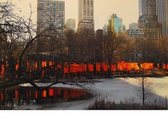 """Christo - """"The Gates - New York Central Park"""" - color offset on heavy paper"""
