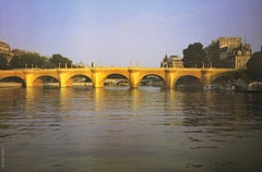 """Christo - """"The Pont Neuff Wrapped - Little Bay"""" - color offset on solid paper"""