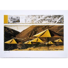 Christo 'The Umbrellas - Joint Project for Japan and USA' (Yellow) Signed Print