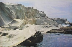 """Christo - """"Wrapped Coast"""" - lithography with a free exhibition poster"""