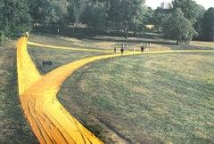 """Christo - """"Wrapped Walk Ways"""", Loose Park in Kansas City - photo offset"""