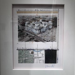 Reichstag X-8 - original Christo modern art lithograph Berlin historic building