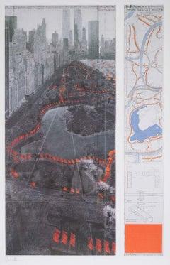 The Gates - original Christo modern art lithograph