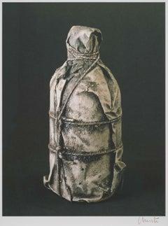 Wrapped Bottle - original Christo modern art lithograph