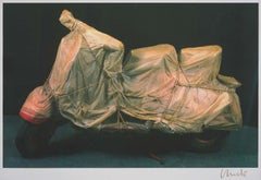Wrapped Vespa - original Christo modern art lithograph vintage italian vespa