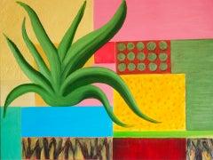 Christo Sharpe, Hot Garden, Original Oil Painting, Affordable Art, Contemporary