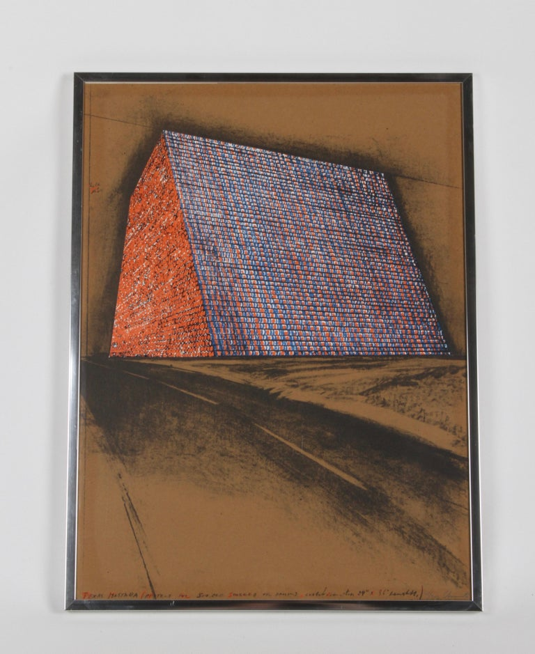 Late 20th Century Christo, Texas Mastra Project for 500,000 Stacked Oil Drums, Signed Lithograph For Sale