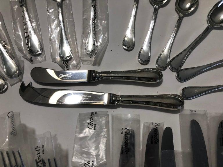 Louis XVI Christofle  24 Silver Plated Set Flatware