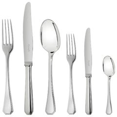 "Christofle Flatware ""America"" Silver Plated Pieces, 134 Pieces"